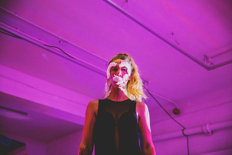 Humber Street Gallery WORM FESTIVAL performance on bar