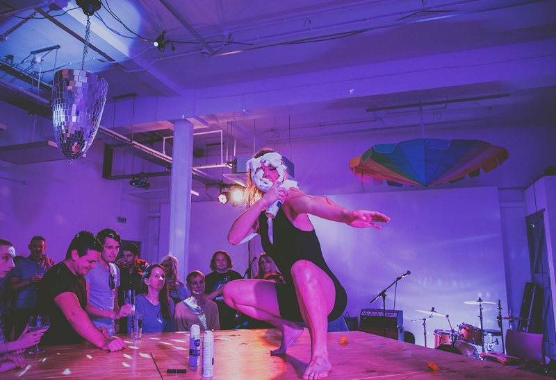 Humber Street Gallery WORM FESTIVAL artists performing WITH SHAVING FOAM