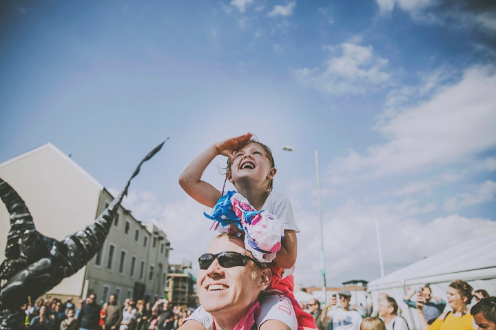 GIRL WATCHING THE BEASTS SAURUS: GIANT BEASTS FROM PREHISTORIC TIMES CLOSE ACT THEATRE FREEDOM FESTIVAL 2017