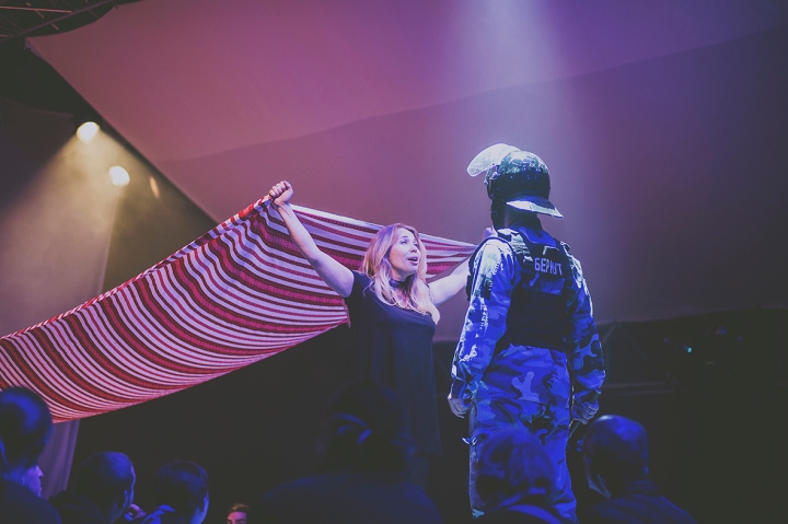 LADY AND A SOLDIER COUNTING SHEEP REVOLUTION A GUERRILLA FOLK OPERA FREEDOM FESTIVAL 2017