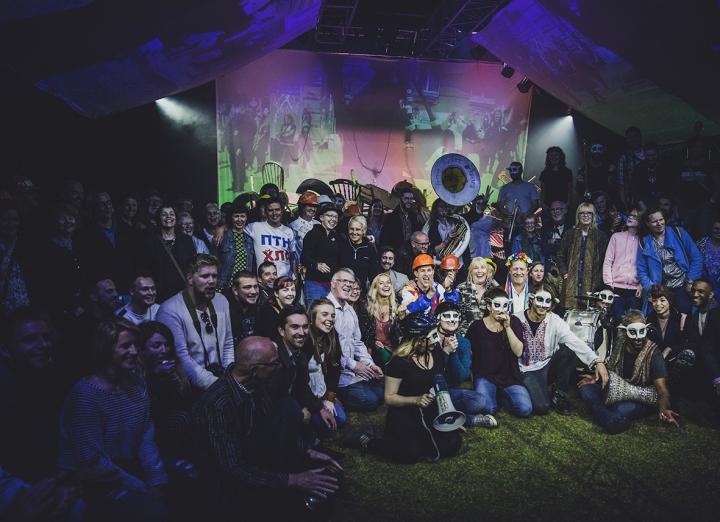 GROUP PHOTO COUNTING SHEEP REVOLUTION A GUERRILLA FOLK OPERA FREEDOM FESTIVAL 2017