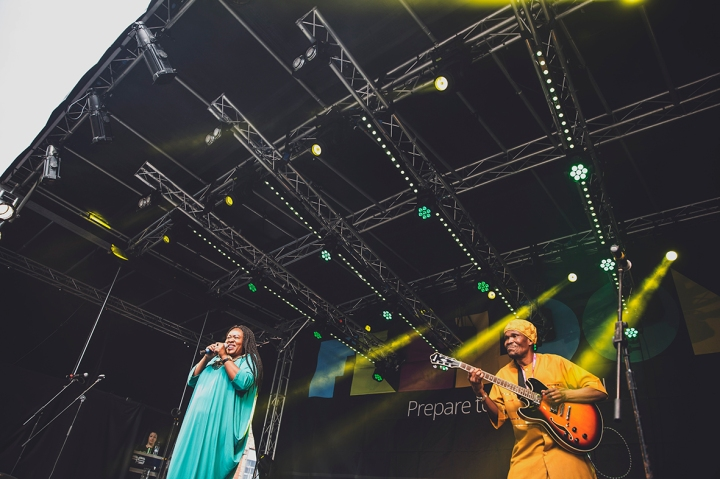 WIDE SHOT OF PERFORMERS SOUNDS OF SOUTH AFRICA MARKET THEATRE MUSICIANS FREEDOM FESTIVAL 2017