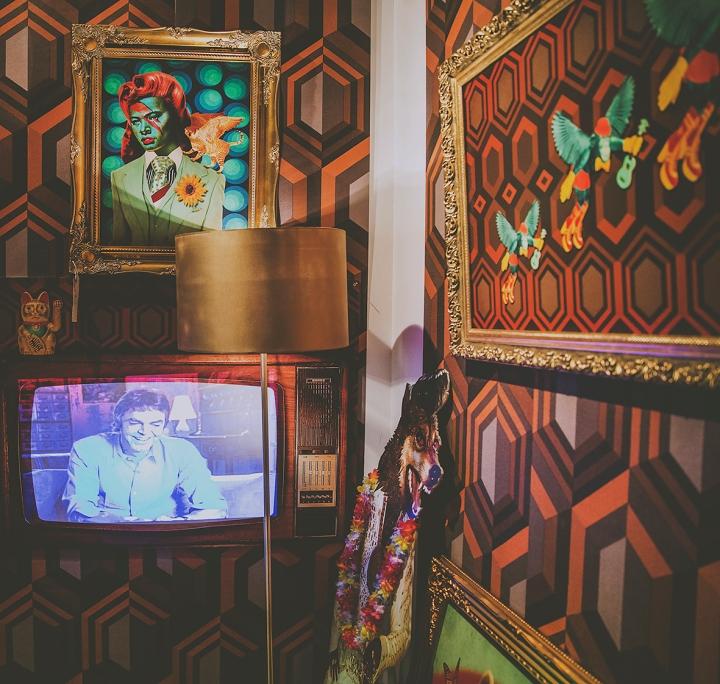 TV AT THE MONEY HOUSE PARTY ANNA BEAN/ BLUEBEANY FREEDOM FESTIVAL 2017